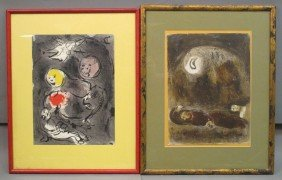 """LOT OF (2) MARC CHAGALL LITHOGRAPHS Sight: 10 1/4"""""""