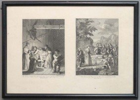WILLIAM HOGARTH, Plates From Don Quixote Circa 18t