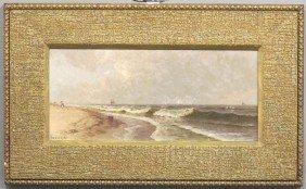 "A.BIRCHER, O/B Seascape Sight: 7""x 16"" Estimate 60"