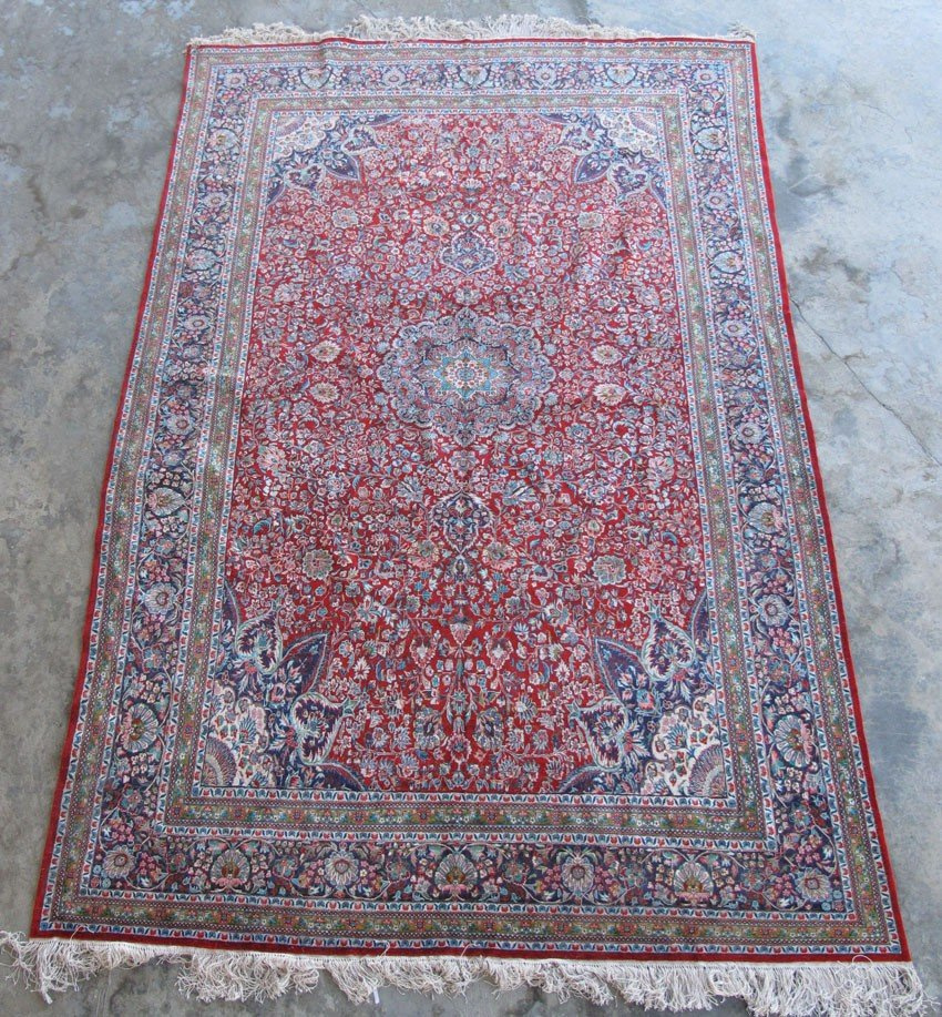 "353: KASHAN ROOMSIZE CARPET size: 12'4""x 7'9"" estimate"