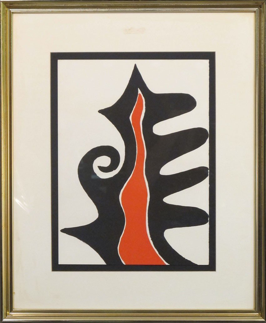 "365: CALDER LITHOGRAPH Untitled (1968) sight: 11""x 15"""