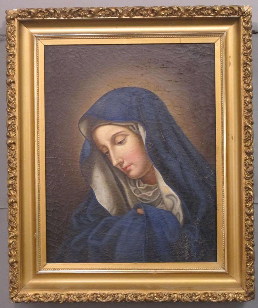 356: LATE 19TH CENTURY O/C OF MOTHER MARY