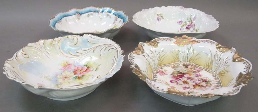 358: LOT OF (4) PORCELAIN DECORATED BOWLS