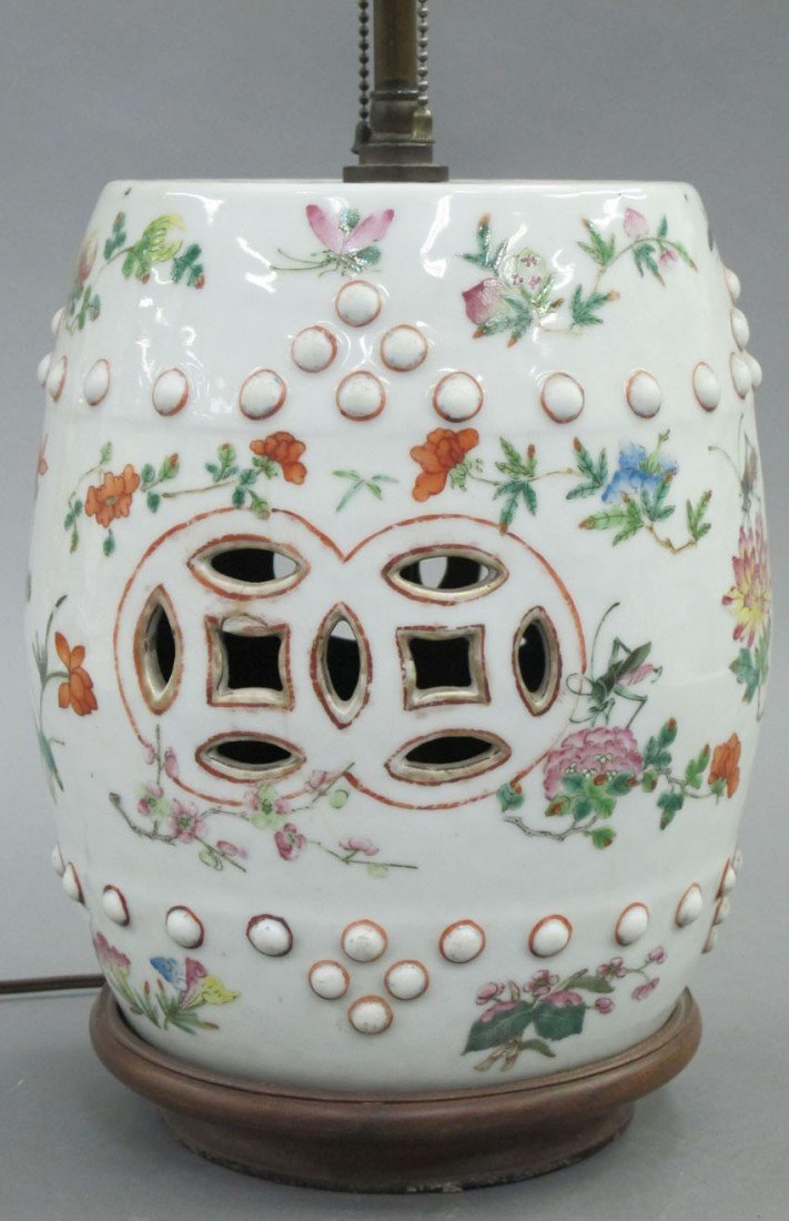 19TH CENTURY CHINESE PORCELAIN GARDEN SEAT conv