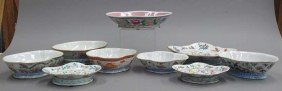 LOT OF (9) CHINESE PORCELAIN PAINTED BOWLS Circ