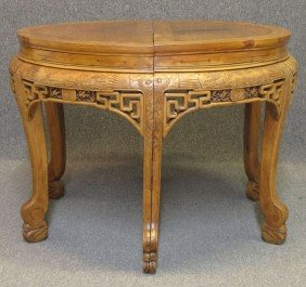 PAIR OF CHINESE PEARWOOD SIDE TABLES Qing Dynas