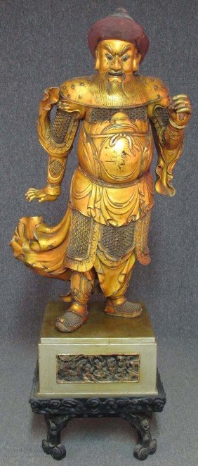 CHINESE CARVED IMMORTAL Circa 19th Century Heig