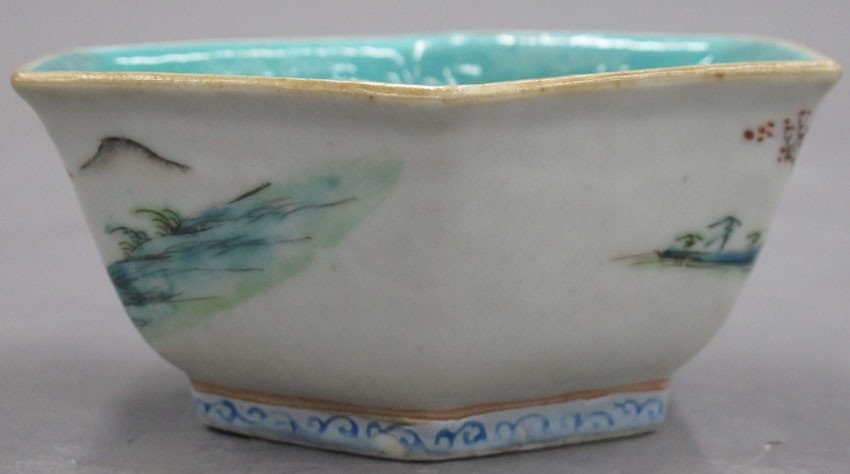 EARLY 20TH CENTURY PAINTED BOWL with stamp mark - 2