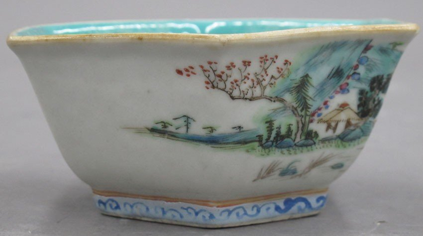 EARLY 20TH CENTURY PAINTED BOWL with stamp mark - 3