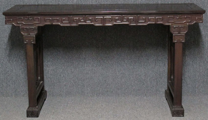 8070A: CHINESE CARVED WOOD ALTAR TABLE