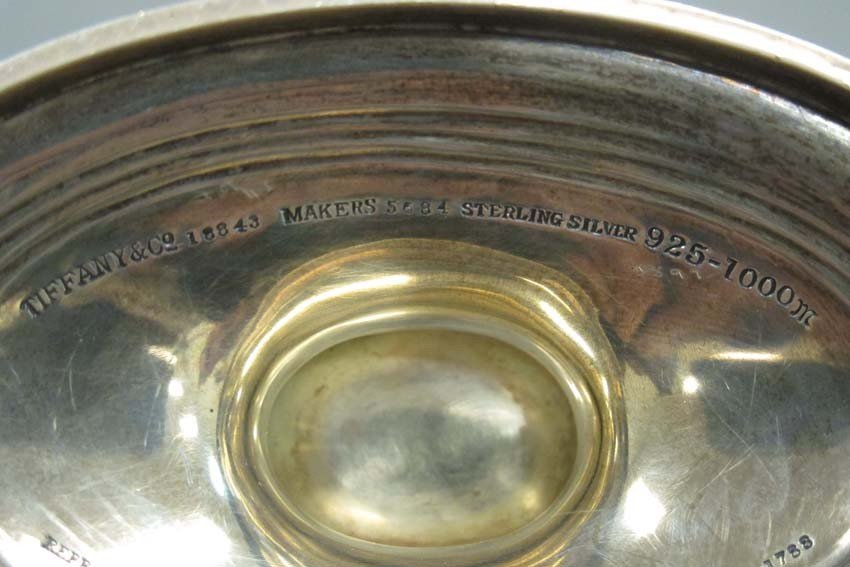 TIFFANY AND CO. STERLING DISH, #18843 weight- 1 - 2