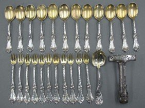ASSORTMENT OF STERLING SILVER (11) forks, (12)