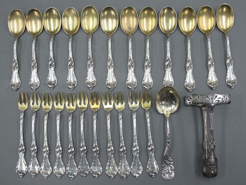 ASSORTMENT OF STERLING SILVER (11) forks, (12)