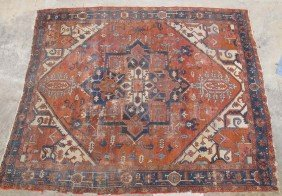 "EARLY 20TH CENTURY HERIZ CARPET Size- 9'9"" X 12"