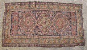 "CAUCASIAN TRIBAL CARPET Size- 45"" X 76"""