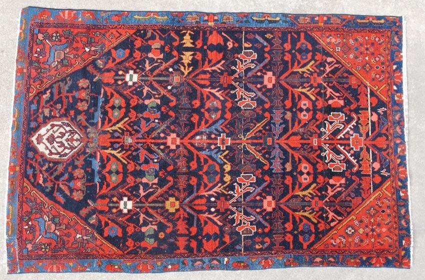 "PERSIAN RUG circa early 20th century size- 46""x"