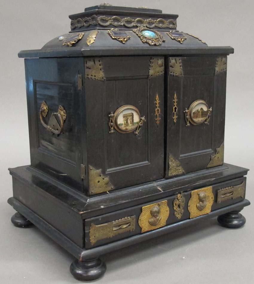 ITALIAN DRESSER BOX with semi precious stones c