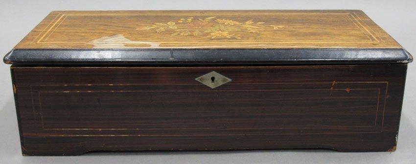 VICTORIAN SWISS CYLINDER MUSIC BOX with twelve