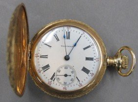 14KT WALTHAM LADIES POCKET WATCH Length- 1 1/2""