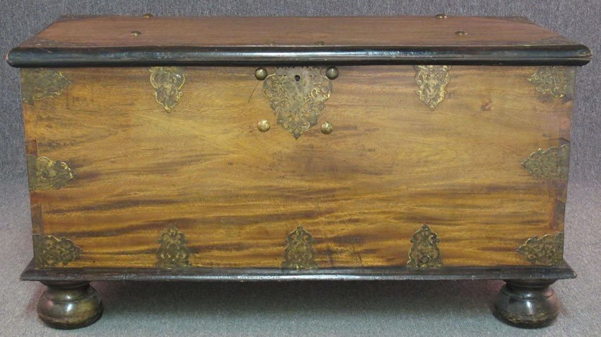 CONTINENTAL STORAGE CHEST with gilt metal ormol