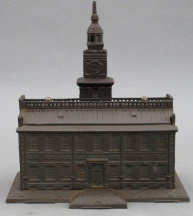 CAST IRON STEEL BANK Independence Hall Height-