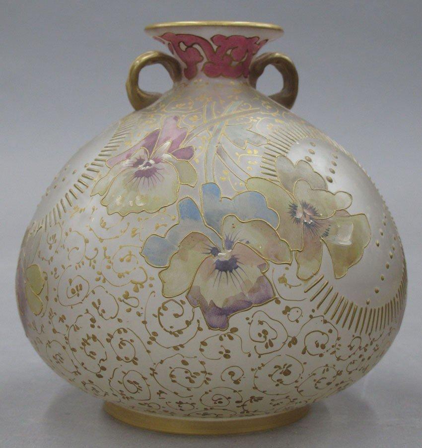 FRENCH ART GLASS VASE circa 19th century height