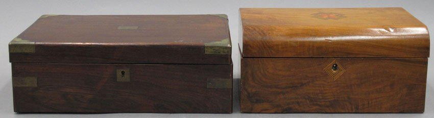 LOT OF (2) 19TH CENTURY DOCUMENT BOXES