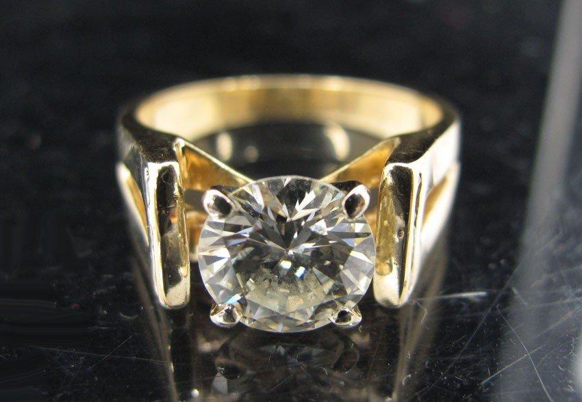 9032: 14KT DIAMOND RING 2.44 CT