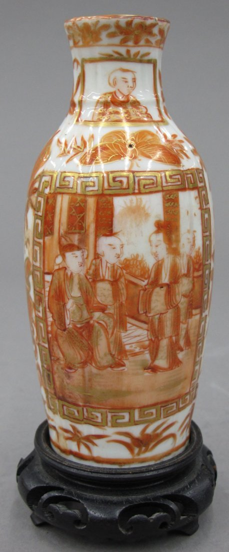8616:  CHINESE PORCELAIN VASE with court scene height-