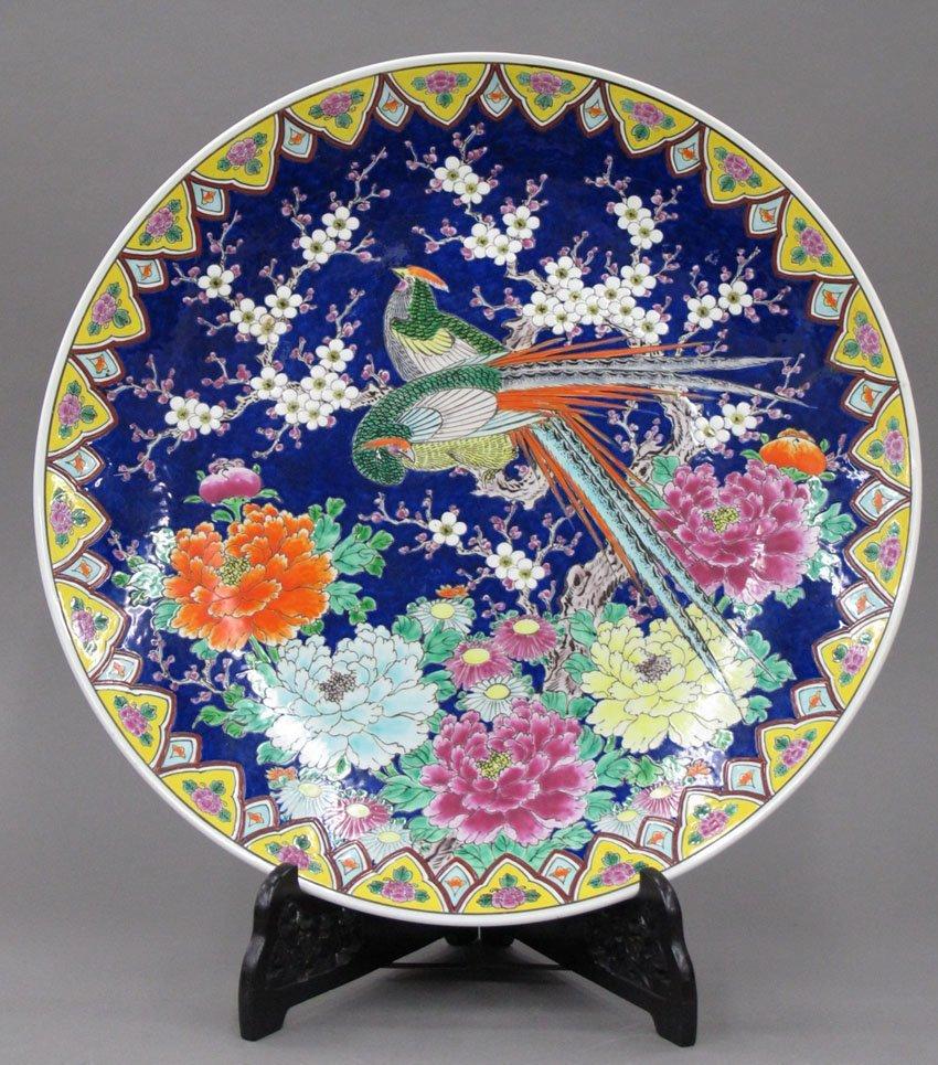 "8620:  JAPANESE PORCELAIN CHARGER diameter- 21 1/2"""