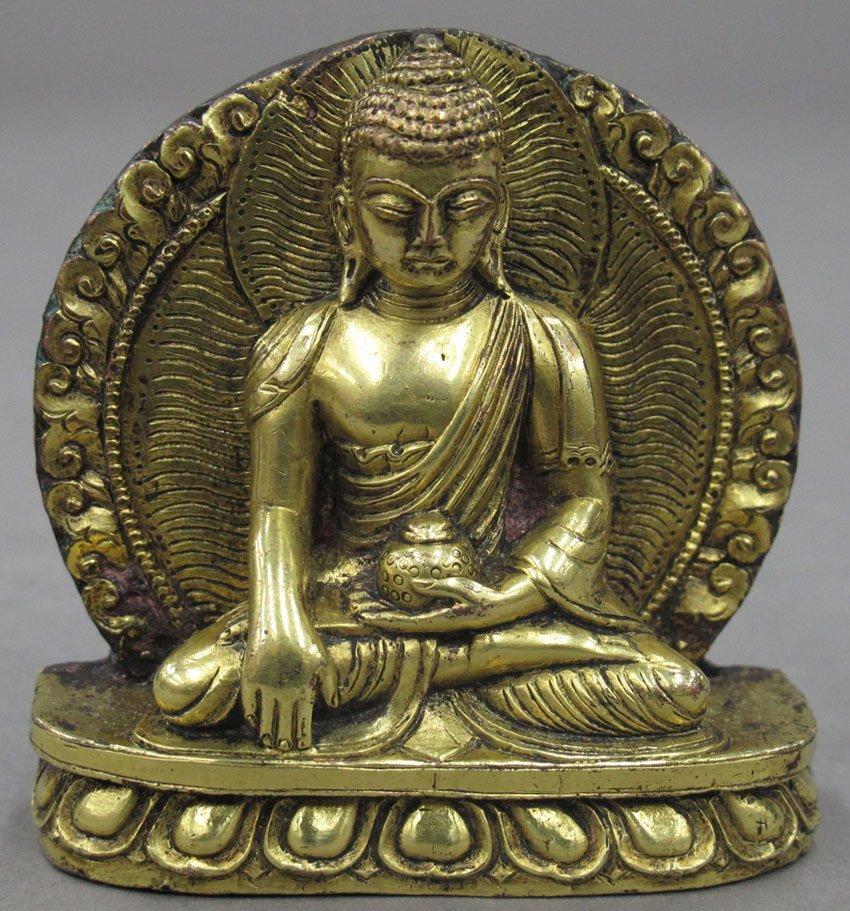 "8480: GOLD GILDED BUDDHA height- 2 1/2"""