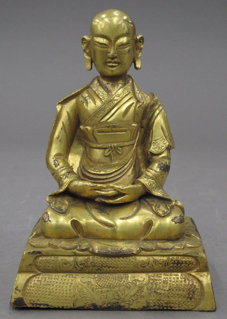 "8481: GOLD GILDED BUDDHA height- 5 3/4"""