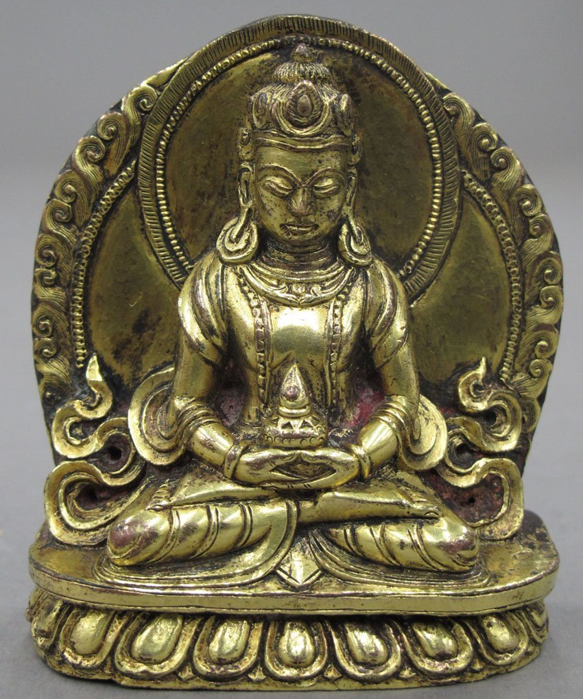 "8487: GOLD GILDED BUDDHA height- 3 1/8"""