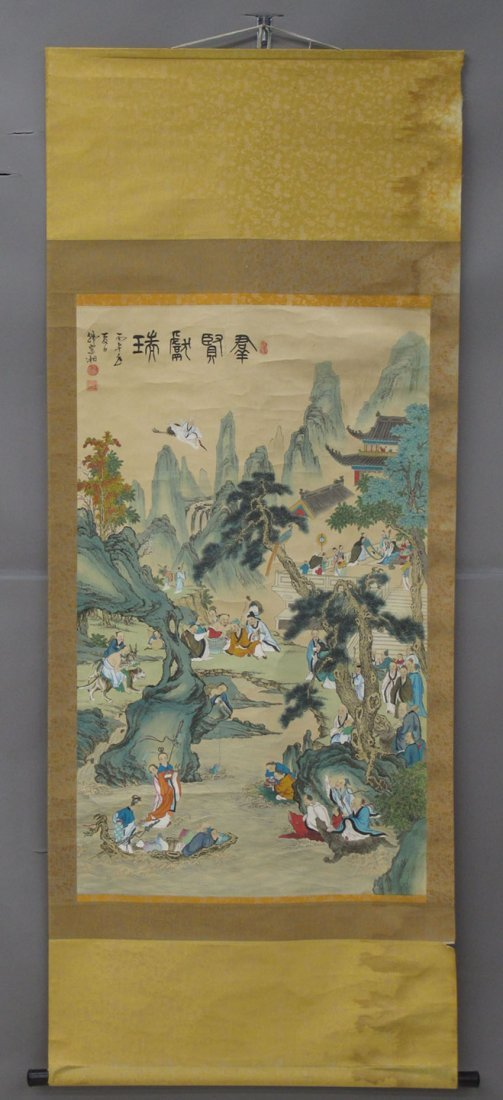 8494: CHINESE PAINTED SCROLL