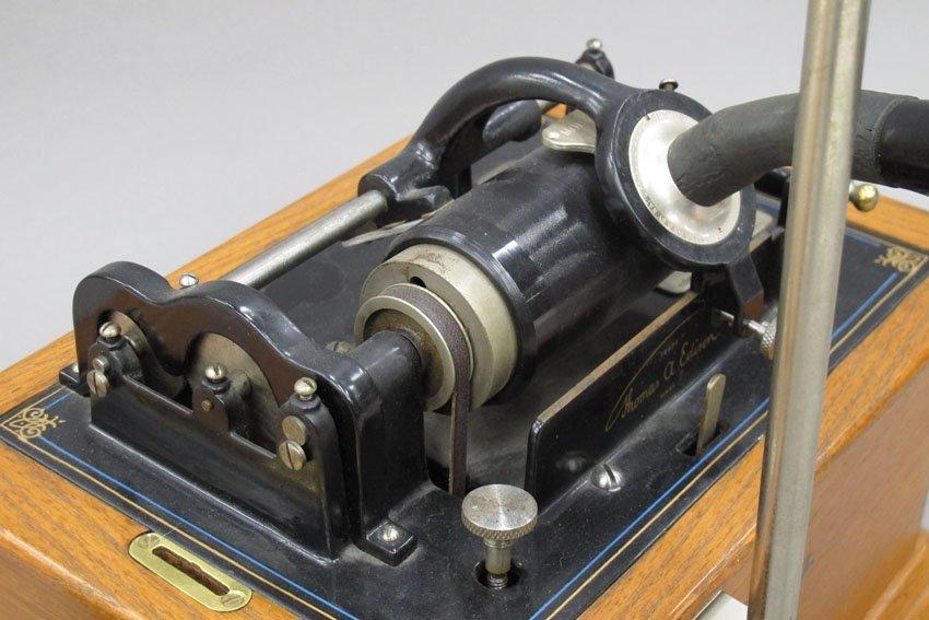 9062: EDISON OAK CYLINDER PHONOGRAPH model- Standard - 2