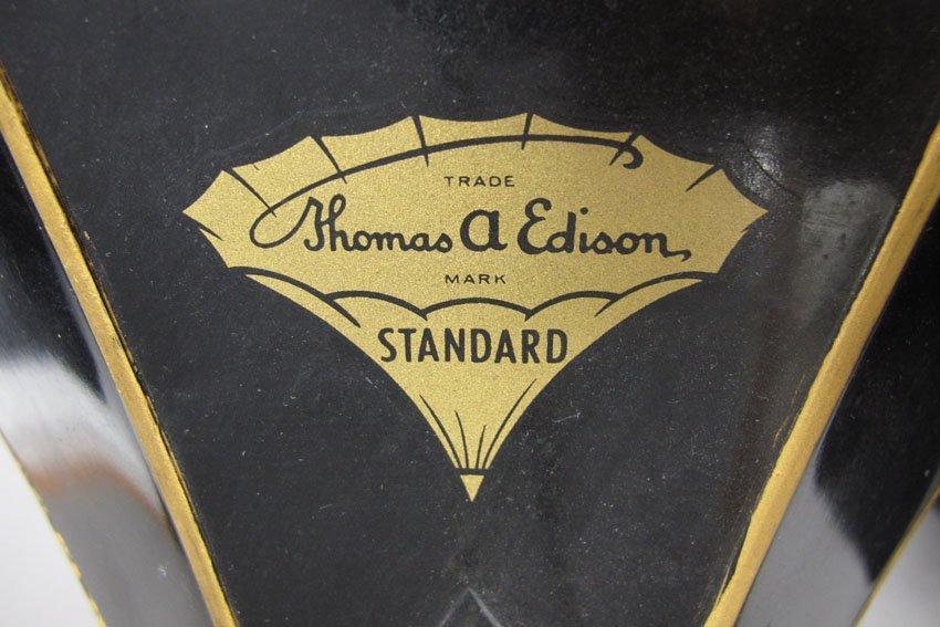 9062: EDISON OAK CYLINDER PHONOGRAPH model- Standard - 5