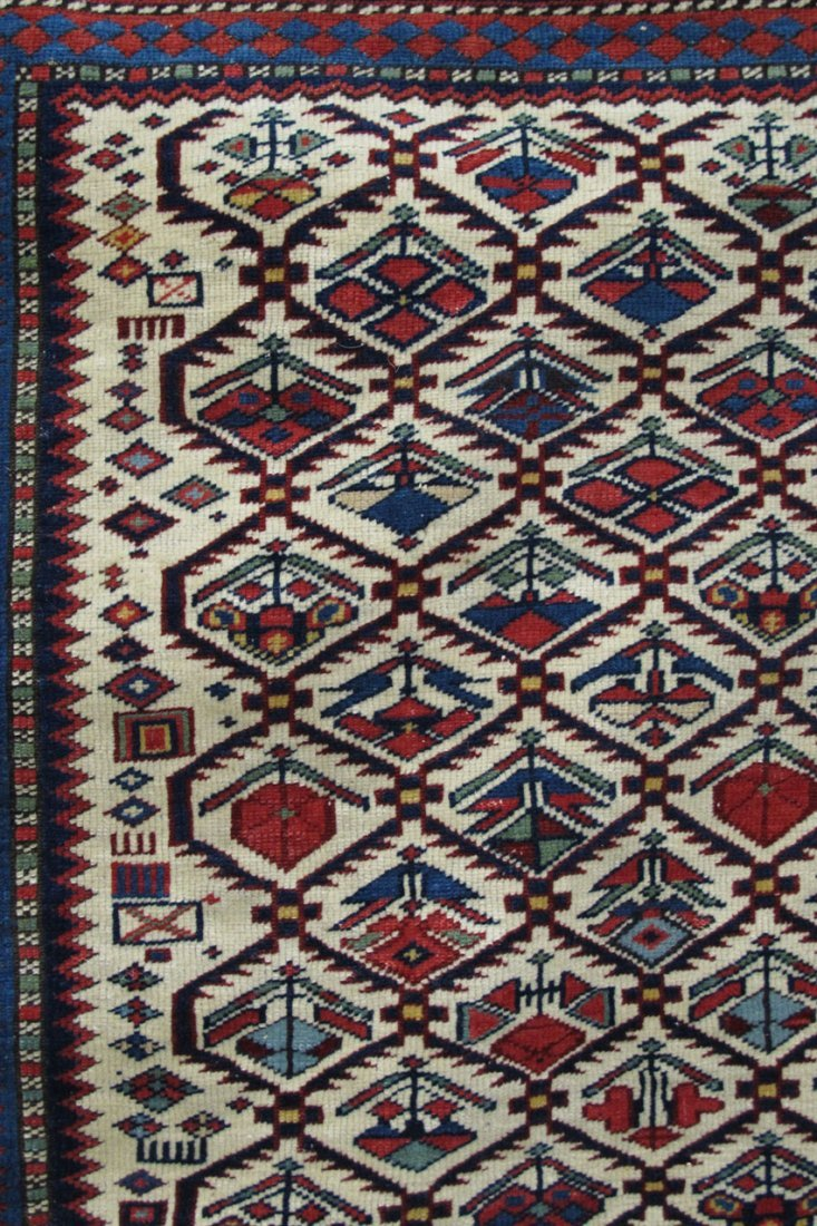 "9121: EARLY TRIBAL PERSIAN CARPET size- 49"" x 55""  - 3"