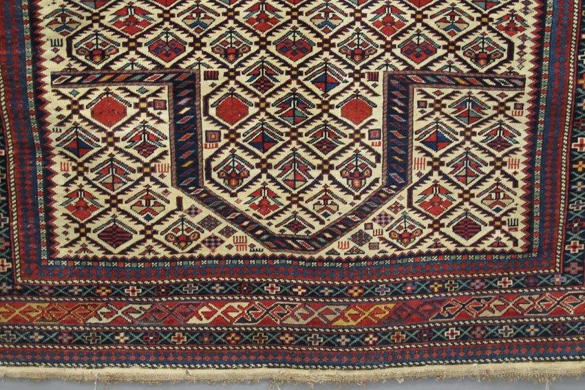 "9121: EARLY TRIBAL PERSIAN CARPET size- 49"" x 55""  - 4"