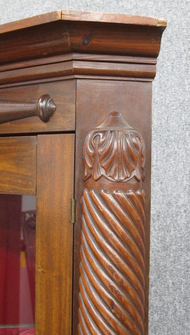 9138: EMPIRE MAHOGANY SINGLE DOOR CORNER CABINET height - 2