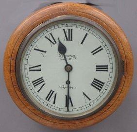 ENGLISH FUSEE WALL CLOCK Marked Freeman Diameter-
