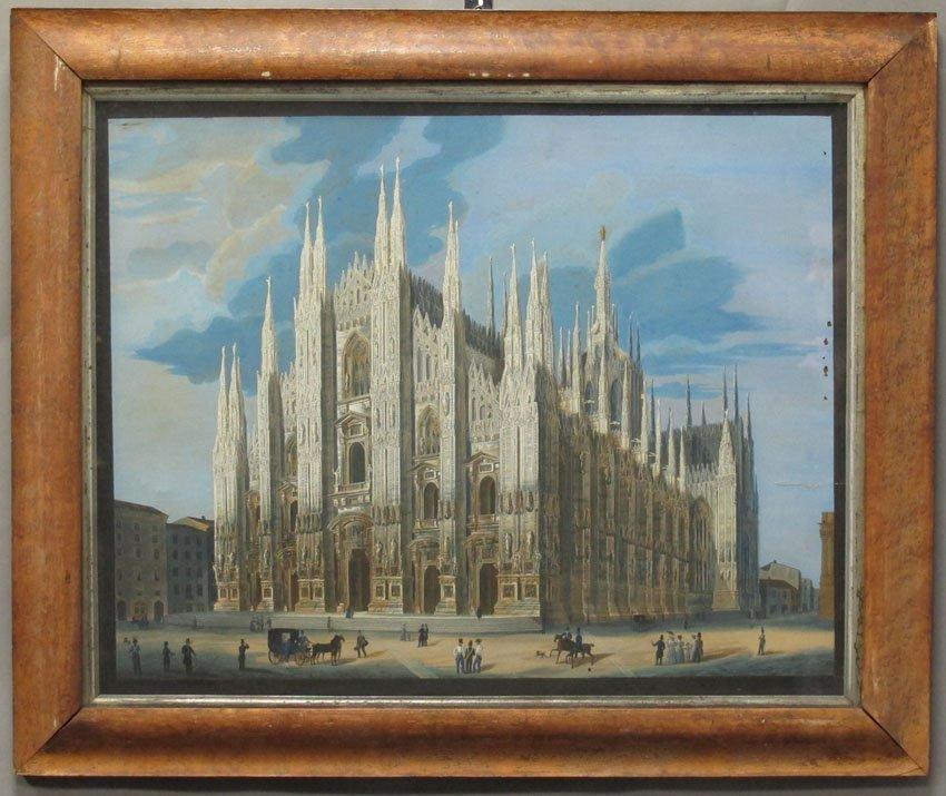 9171: ITALIAN GOUACHE circa early 19th century sight- 2