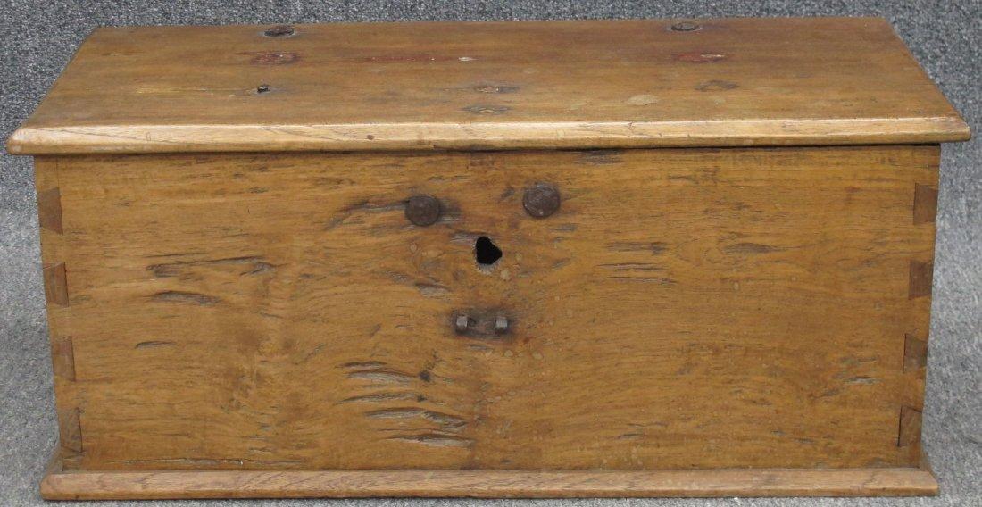 "9175: DOCUMENT BOX circa 18th century height- 12 1/2"","