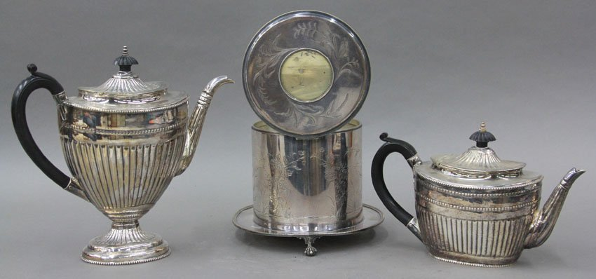 LOT OF (3) LATE VICTORIAN SILVER PLATED ITEMS t