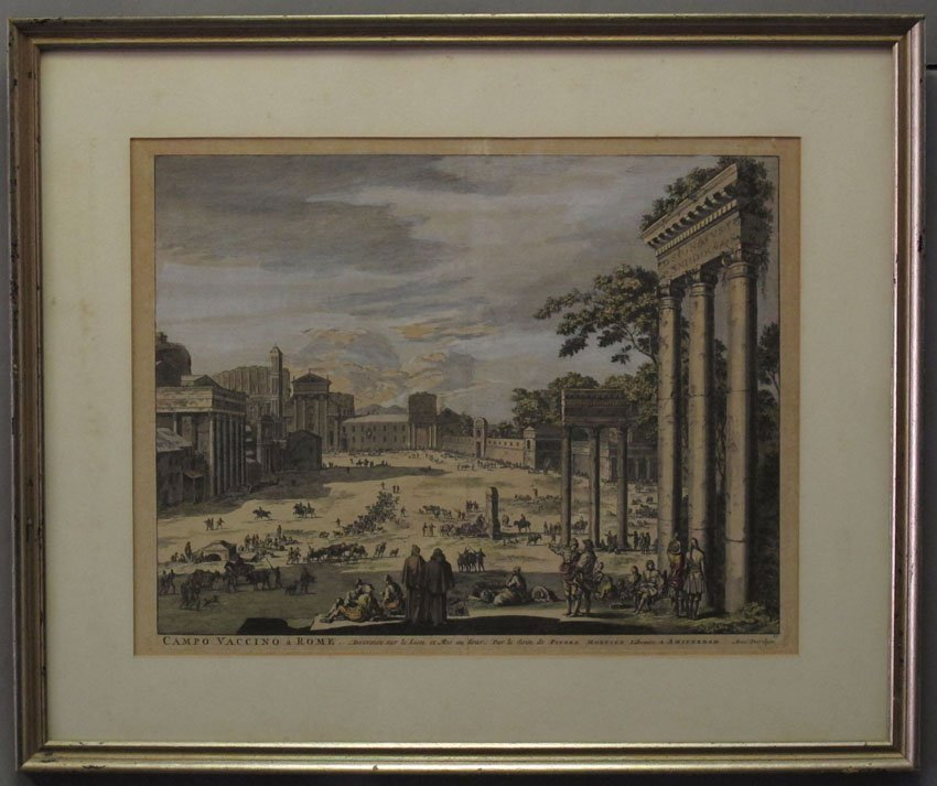 LOT OF (3) ITALIAN SCHOOL COLORED LITHOGRAPHS c