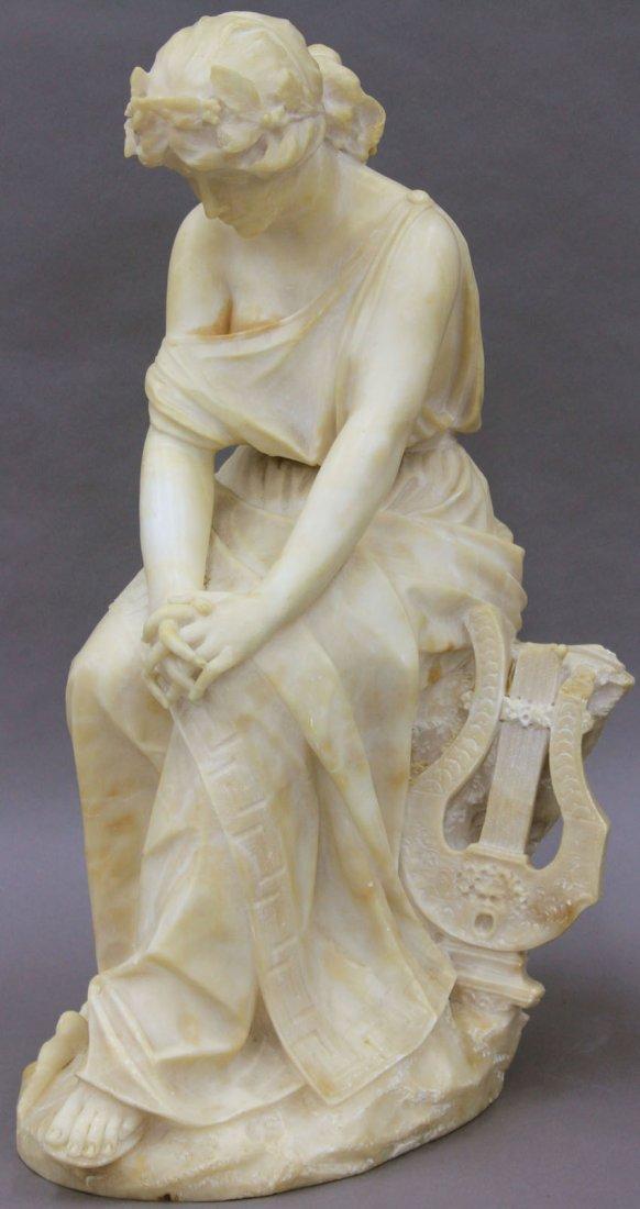 ITALIAN 19TH CENTURY CARVED ALABASTER SCULPTURE