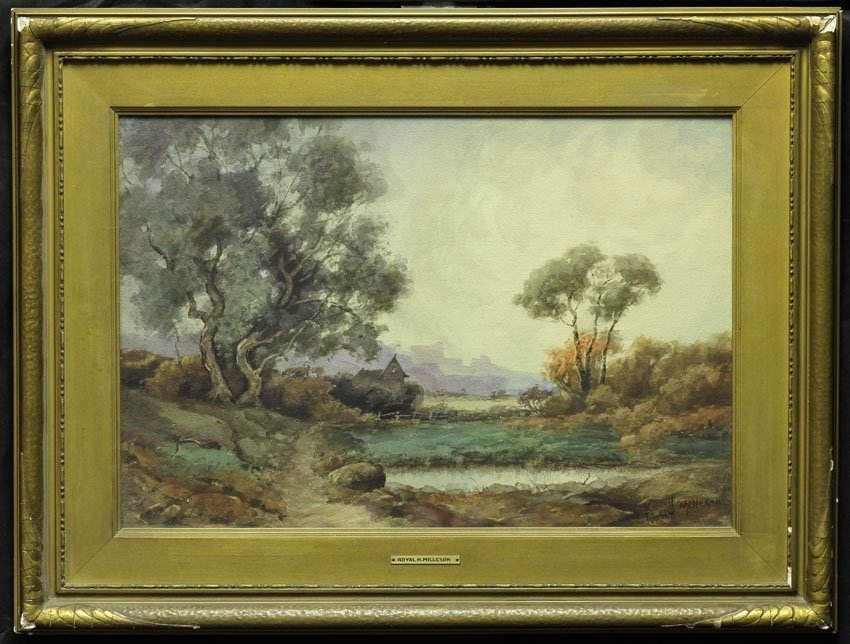 7972: ROYAL HILL MILLESON (1849-1935), Watercolor sight