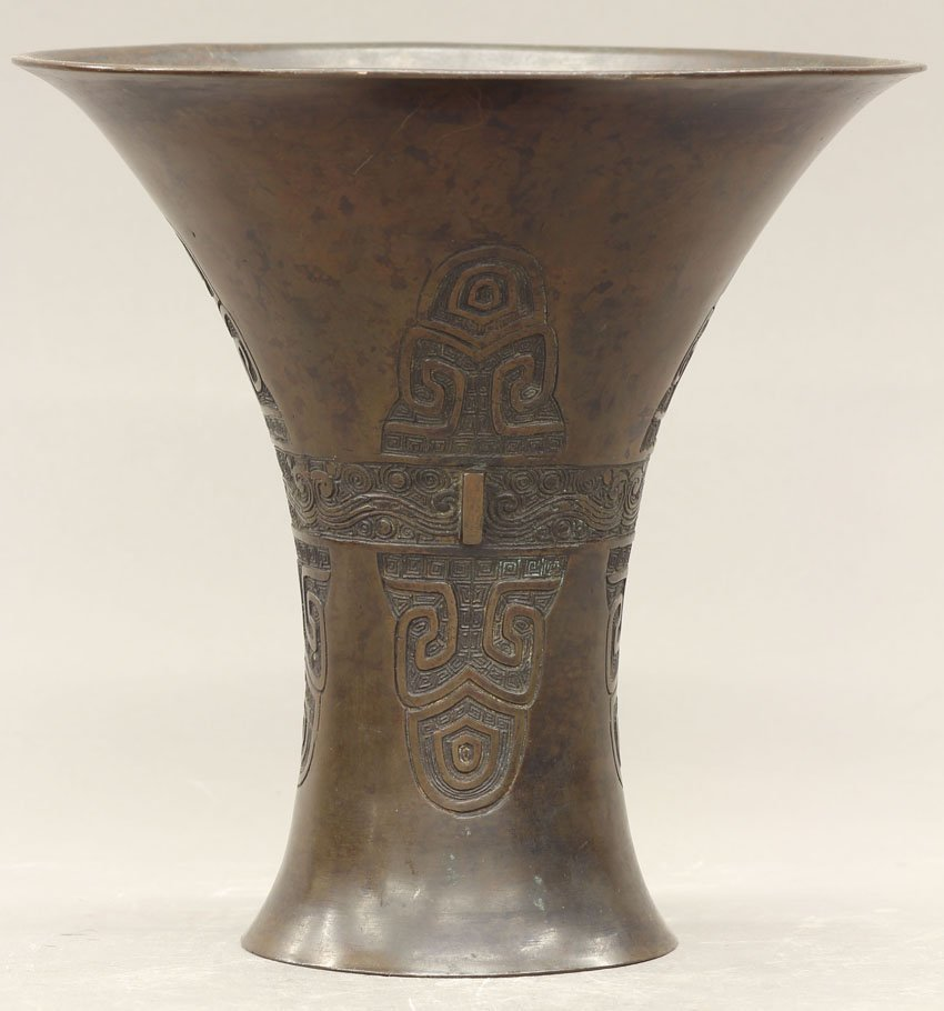 8504: JAPANESE BRONZE VESSEL circa 19th century height-