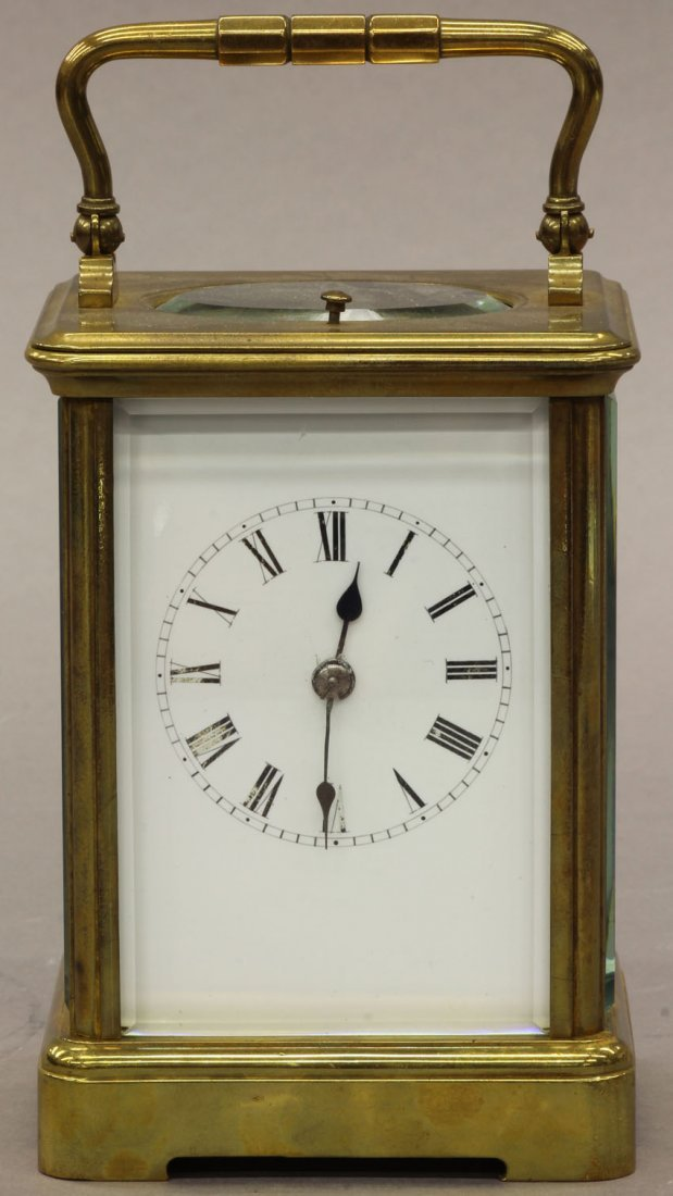 6: FRENCH CARRIAGE REPEATER CLOCK circa late 19th centu