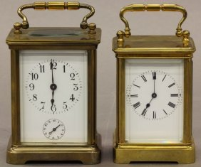 LOT OF (2) FRENCH CARRIAGE CLOCKS Note- One Has Alar