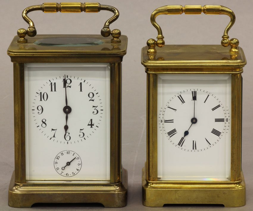 8: LOT OF (2) FRENCH CARRIAGE CLOCKS note- one has alar